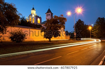 The monastery in Yaroslavl, summer night. Long exposure #607807925