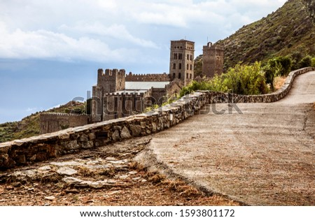 The Monastery of Sant Pere de Rodes in Girona province. Catalonia, Spain Stock fotó ©