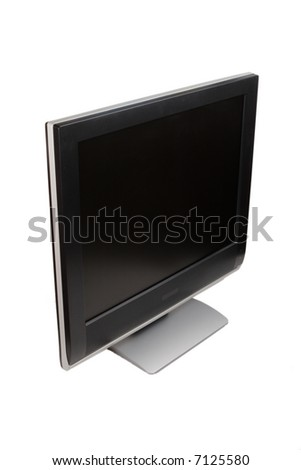 The monitor for a computer of black color
