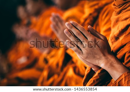 The monks are chanting a Buddhist ritual in it.