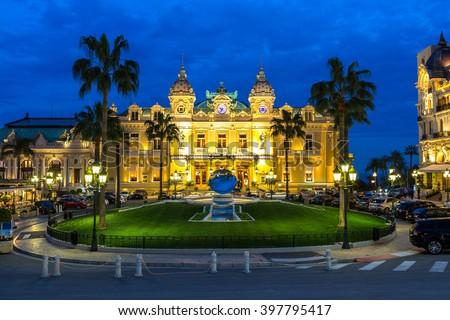 The Monte Carlo Casino, gambling and entertainment complex in Monte Carlo, Monaco, Cote de Azul, Europe.  #397795417