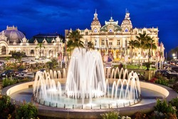 The Monte Carlo Casino is landmark in Monte Carlo, Monaco, Cote de Azul, France, Europe. It includes a casino, the Grand Theatre de Monte Carlo, and the office of Les Ballets de Monte Carlo.