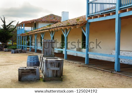 The Monterey Bay Customs House is the oldest built structure in California, dating to 1827