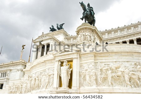 The Monument of Victor Emmanuel II,  June 2010 in Rome, Italy