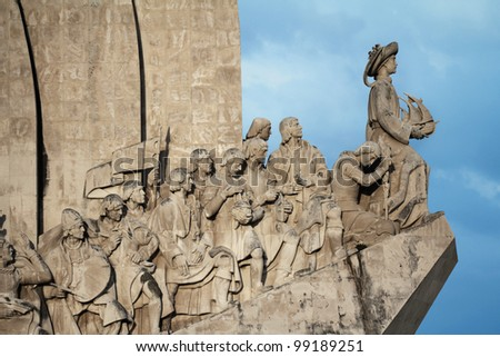 The Monument to the Discoveries in Lisbon  Portugal