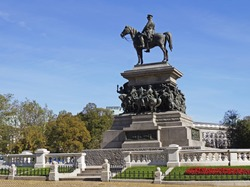 The Monument to the Tsar Liberator in Sofia, Bulgaria