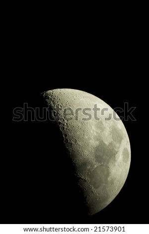 the moon - stock photo