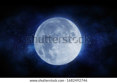 The Moon and deep space stock photo