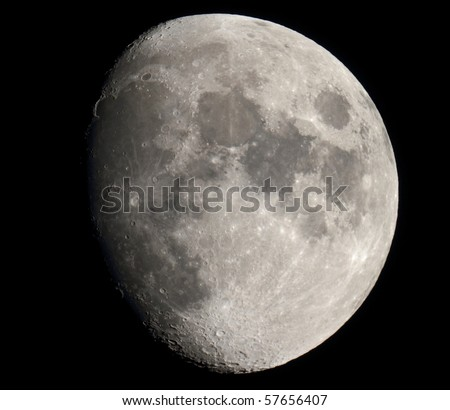 The Moon in 3/4 and high resolution
