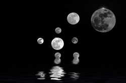 The moon shooting by myself; super full moon tonight.  The element of this image furnished by NASA.