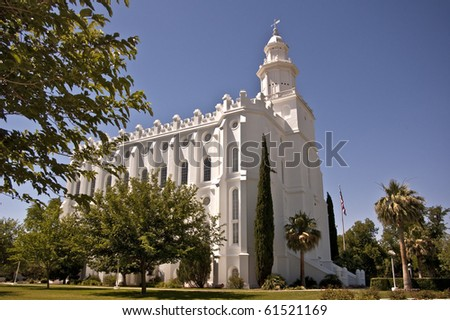 The Mormon Temple in St. George, UItah