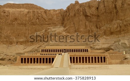 The Mortuary Temple of Queen Hatshepsut in Egypt #375828913