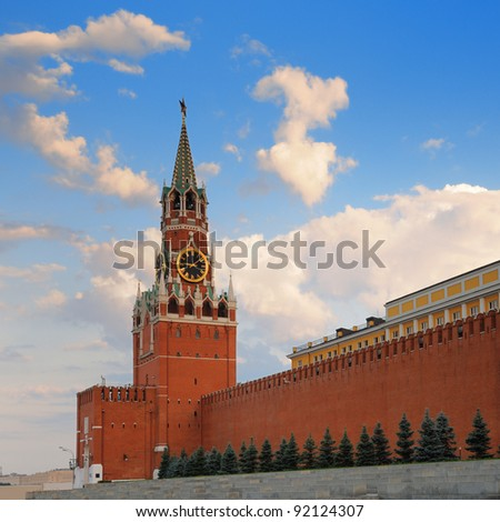 The Moscow Kremlin on a summer day. Russia