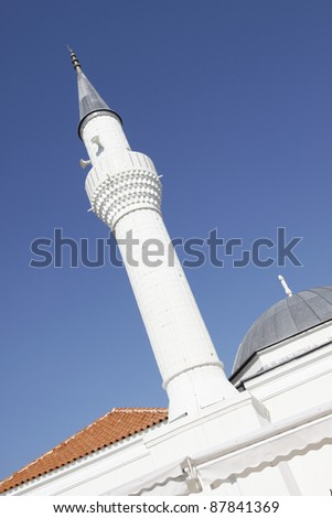 The mosque in Bodrum, Turkey