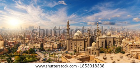 The Mosque-Madrasa of Sultan Hassan at sunset, Cairo Citadel, Egypt