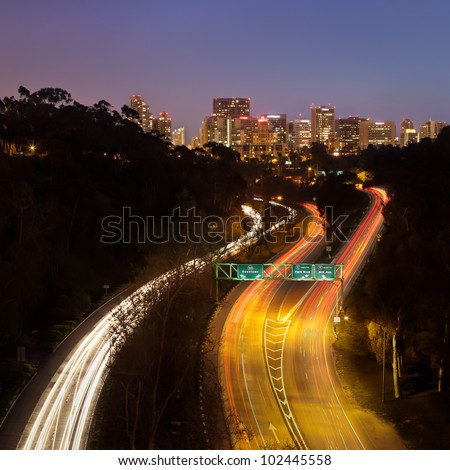 The Most Beautiful Highway - Downtown San Diego from the Cabrillo Bridge