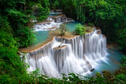 The most beautiful waterfall of Thailand