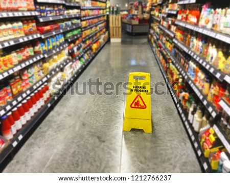 The most common slips, trips and floor hazards associated with the office, warehousing, retail and hospitality industries are wet floors #1212766237