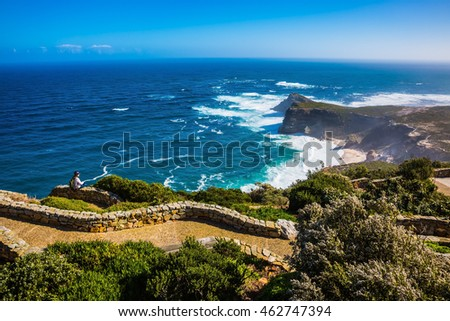The most extreme south-western point of Africa. Cape of Good Hope in the Atlantic. Cape on the Cape Peninsula south of Cape Town, South Africa #462747394