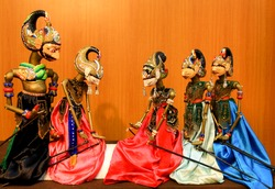 The Most Famous Indonesian Traditional Puppets Show in Museum Wayang Jakarta, Indonesia