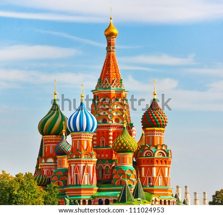The Most Famous Place In Moscow, Saint Basil's Cathedral, Russia ストックフォト ©