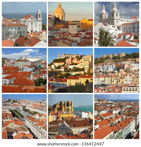 The most famous places in Lisbon. Portugal