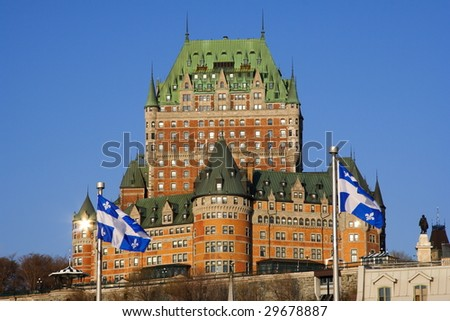 The most famous tourist attraction in Quebec City: Chateau Frontenac.
