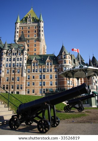 The most famous tourist attraction in Quebec City: Chateau Frontenac
