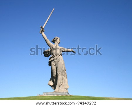 The Motherland Calls in Mamayev Kurgan in Volgograd, Russia