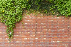 The mottled red brick wall texture