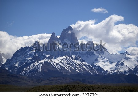 the mount fitz-roy in Patagonia, Argentina