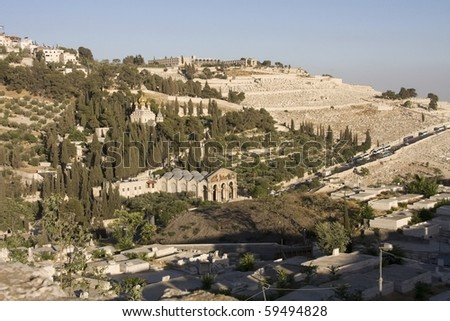 The Mount of Olives in Jerusalem