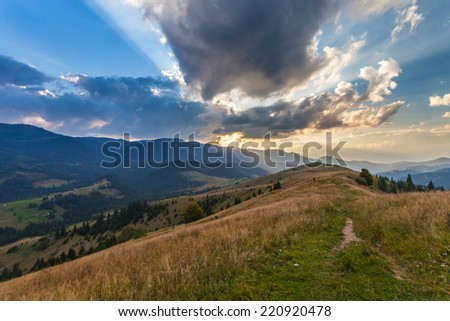 the mountain autumn landscape with colorful forest #220920478