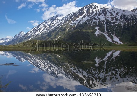 The Mountain reflected in the Lake