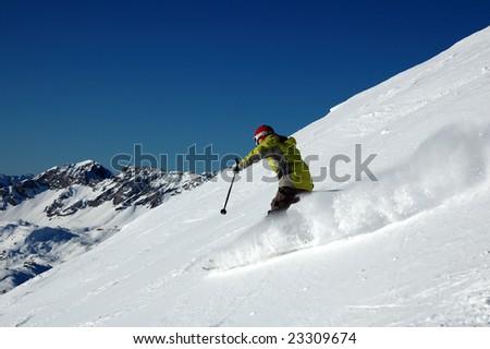 The mountain skier #23309674