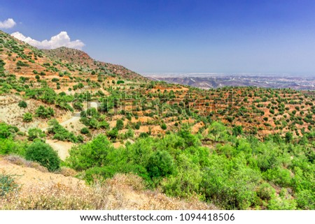 The mountain slopes in Central Cyprus #1094418506