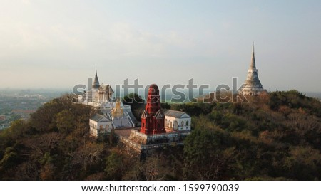 The mountain structure is the structure of Phetchaburi province