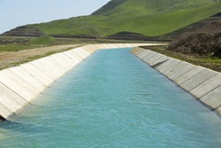 the mountain water channel in Shabran, Azerbaijan.