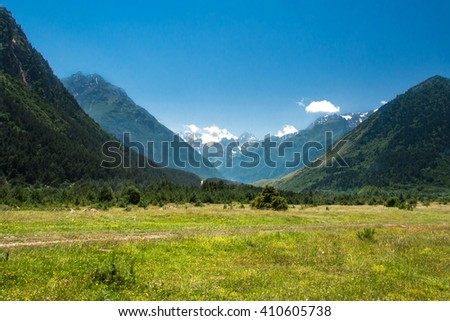 the mountains of the North Caucasus, Russia #410605738