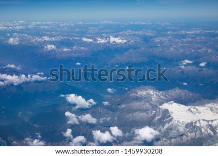 The mountains. View of the snowy mountains from the top. Wonderful panorama of the mountain landscape #1459930208