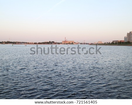 the mouth of the Neva River, high-rise buildings #721561405