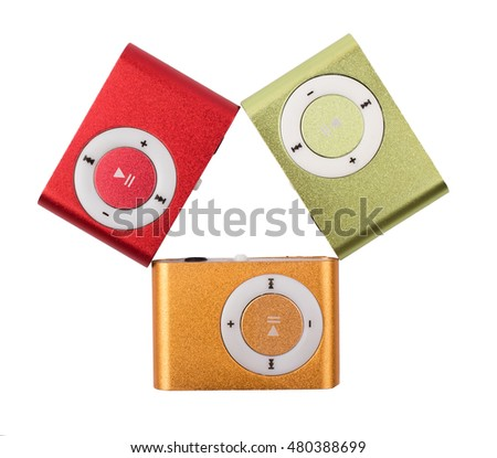 the MP3 players color isolated