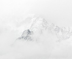The Mt.  Everest region in bad weather - Nepal