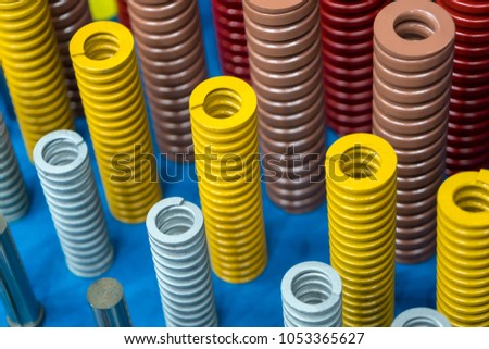 The  multi-size coil spring for industrial purpose  #1053365627