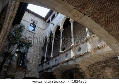 The Museu Picasso's cloister in BArcelona - Spain