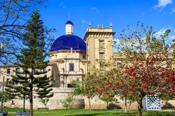 The Museum of fine arts in Turia garden, Valencia, Spain.