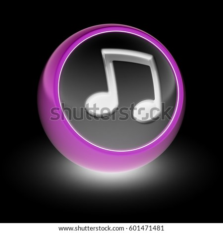 The musical Note Icon on the ball.