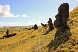 The mystery of Easter Island and the giant moai statues in the Quarry