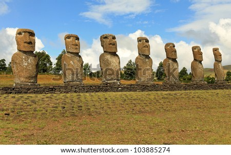 The mystery of Easter Island and the seven giant moai statues