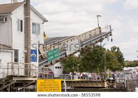 The Mystic River drawbridge in Mystic Connecticut